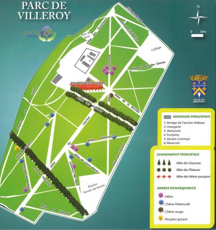 plan du parc de villeroy