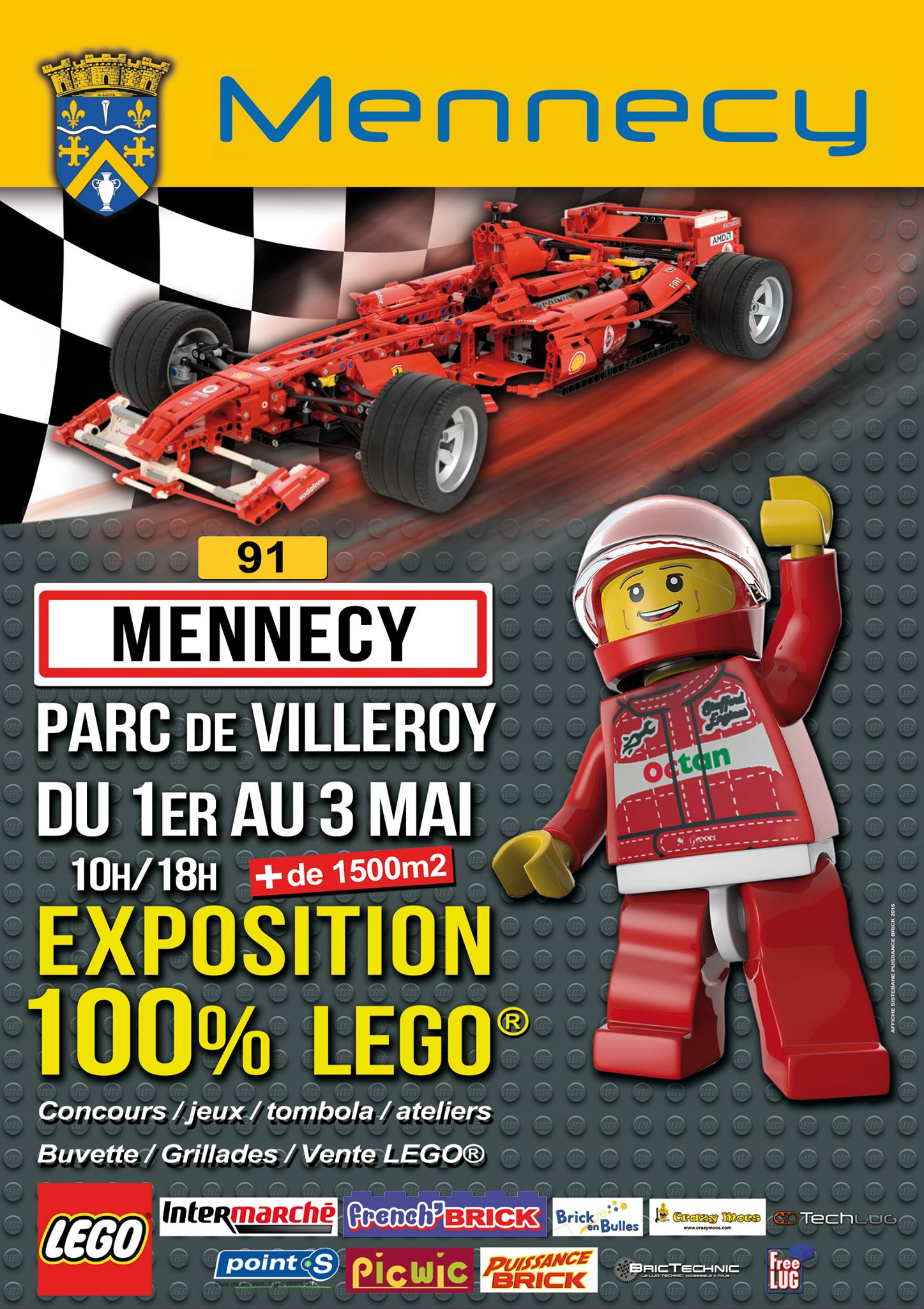 Affiche expo 100% LEGO Mennecy 2015